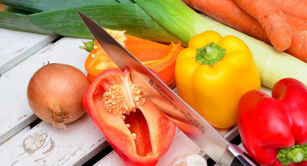 fresh vegetables on white board.