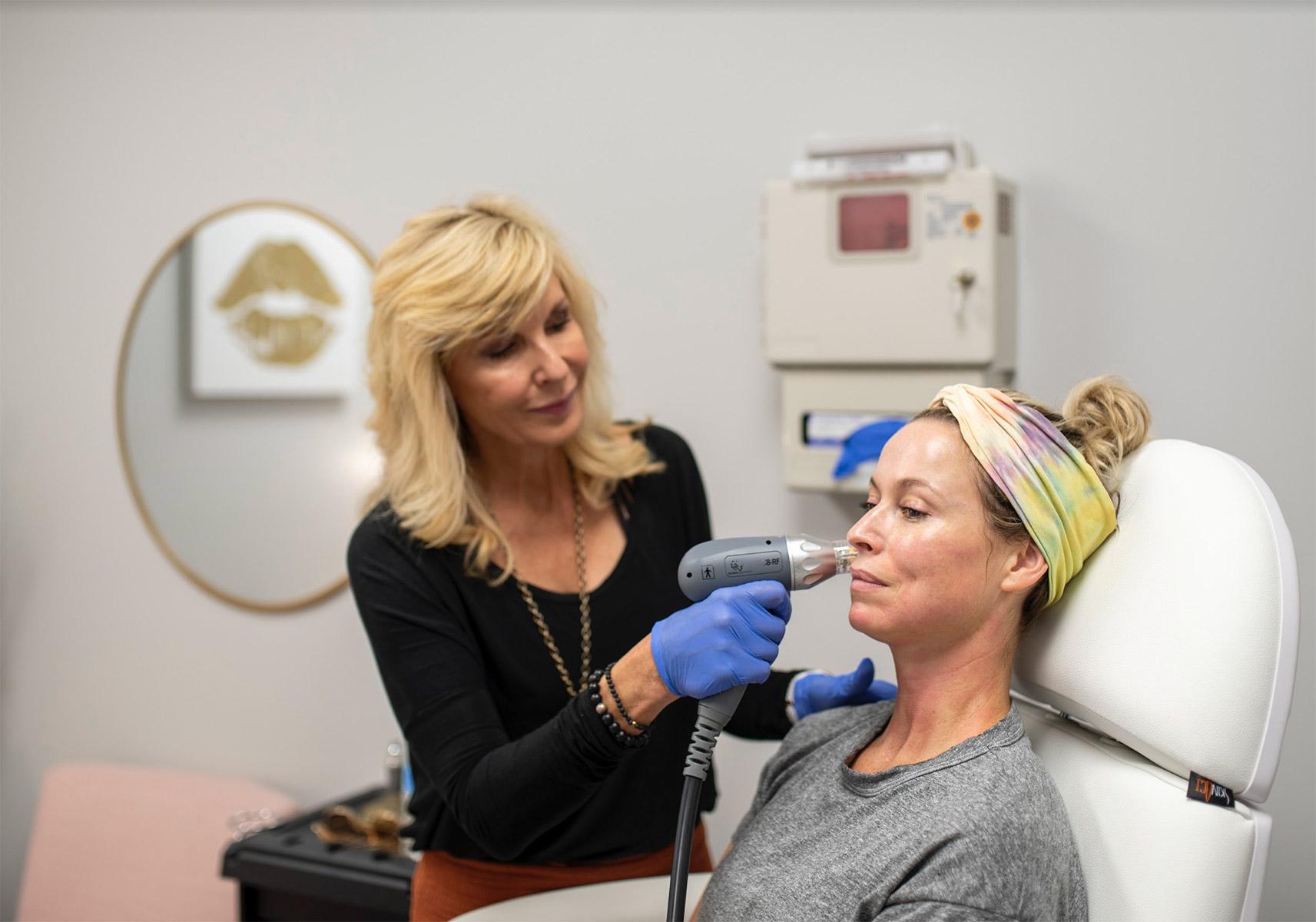 laser hair removal demonstration
